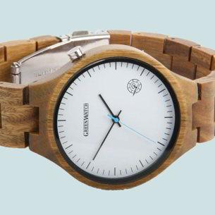 Houten horloges voor hem en haar - leuk horloge cadeau | www.homeseeds.nl