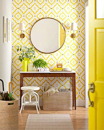 Interieur stylen met weinig budget ga voor een nieuw behang