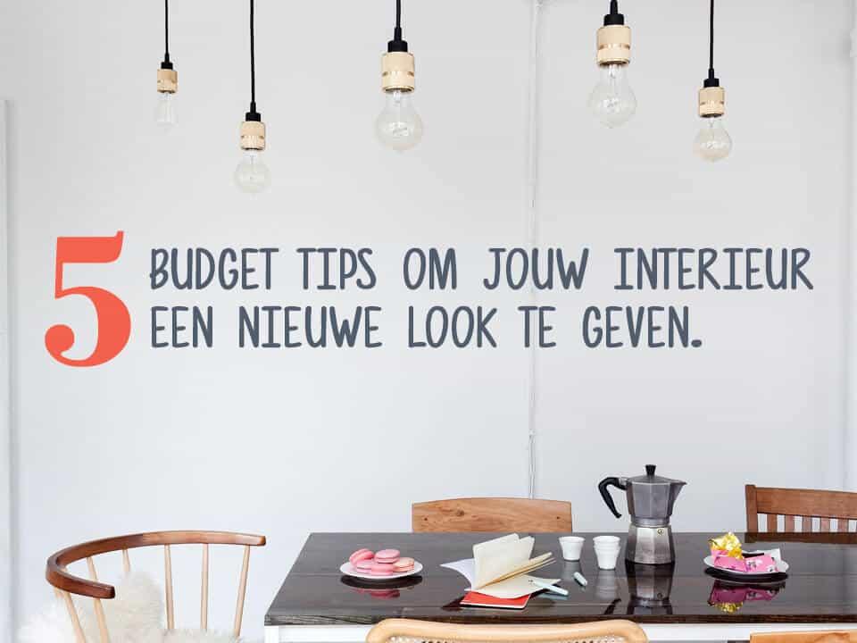 Vijf budget tips om je interieur een nieuwe look te geven | www.homeseeds.nl/inspiratie