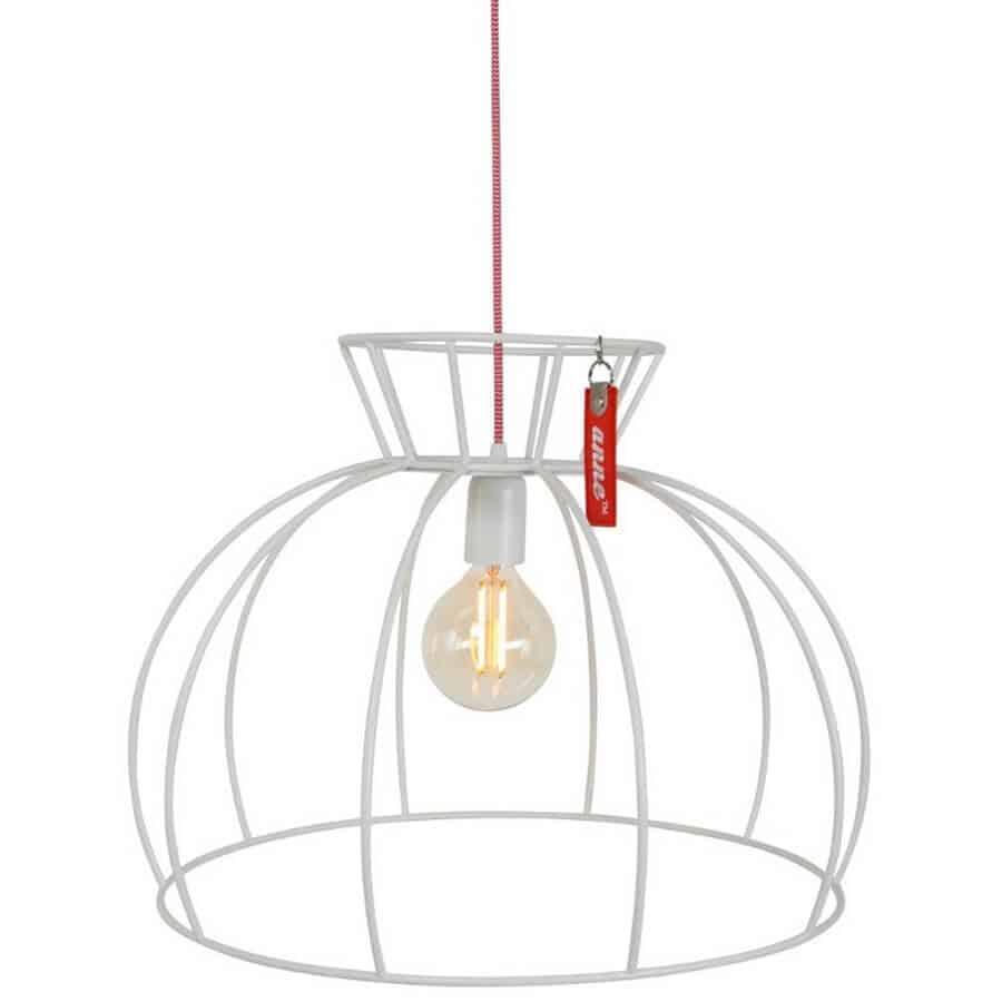 Anne Crinoline Wit | Stoere draadlamp perfect voor in een industrieel of scandinavisch interieur | www.homeseeds.nl # Anne Lighting # verlichting