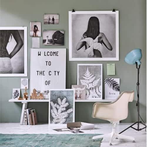 Muur-met-leuke-prints-en-kaarten---budget-interieur-tips | Homeseeds.nl