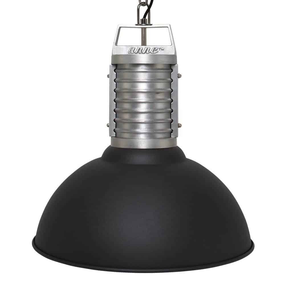 Stoere industriele hanglamp van Anne Lighting | Anne Oncle Phillipe Zwart | www.homeseeds.nl
