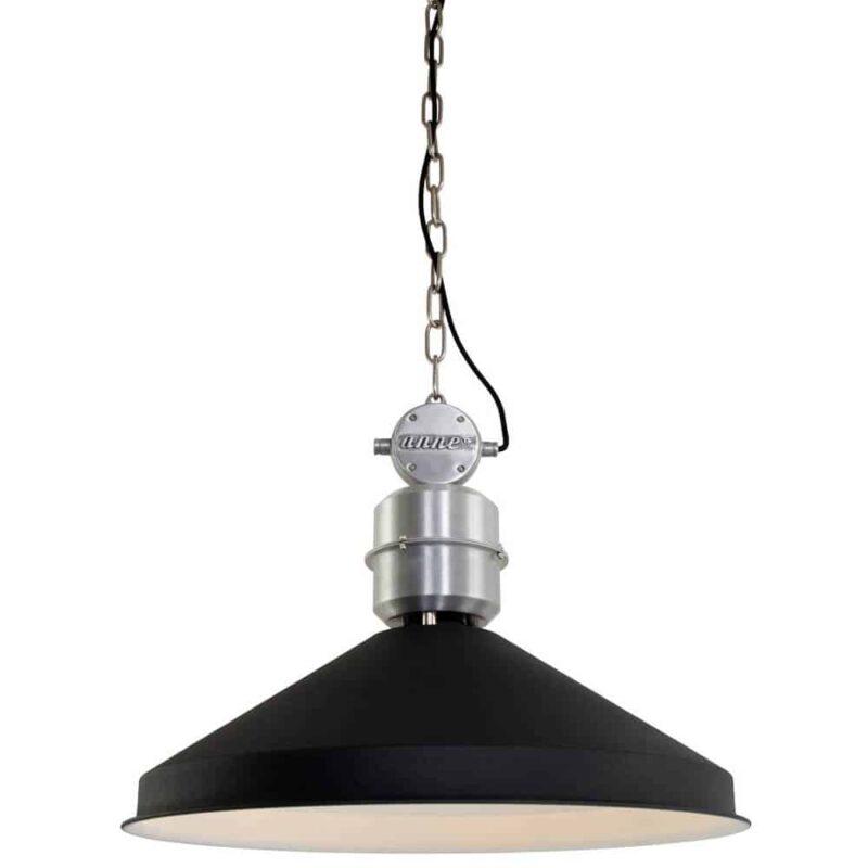 Hanglamp Zappa van Anne Lighting   Stoere industriële hanglamp, in zwart matte coating   industriële woonstijl   www.homeseeds.nl