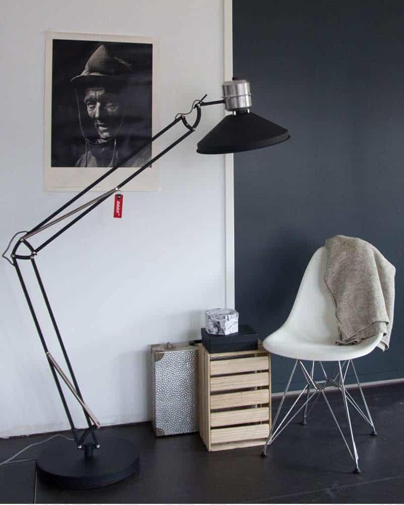 Zappa vloerlamp van Anne Lighting | Industrieel wonen | www.homeseeds.nl