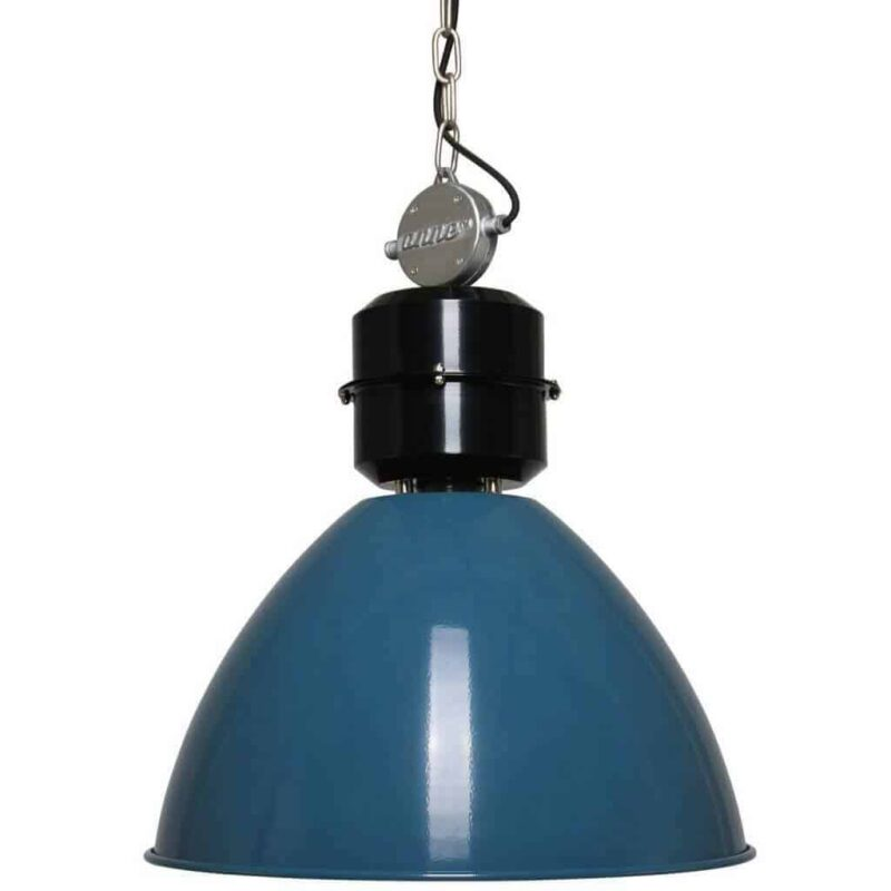 Anne Frisk Blauw | Stoer, industrieel en unieke hanglamp van Nederlandse bodem | Dutch Design | www.homeseeds.nl