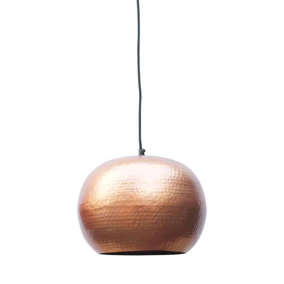 Hippe hanglamp Artisan koper van metaal met koperen binnenzijde voor een mooi sfeervol licht | verkrijgbaar in drie kleuren en twee formaten | www.homeseeds.nl