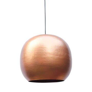 Hippe hanglamp Artisan XL van metaal met een koperen binnenzijde voor een mooi sfeervol licht | verkrijgbaar in drie kleuren en twee maten | www.homeseeds.nl