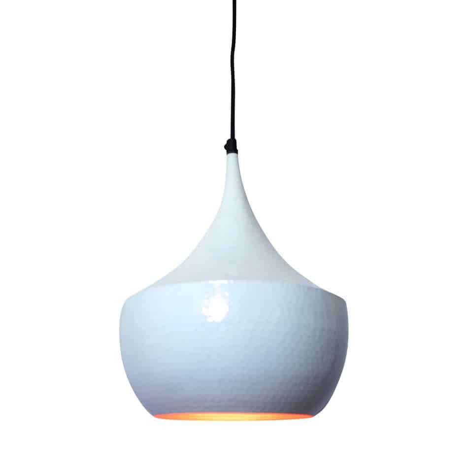 Hippe hanglamp Doll met koperen binnenzijde voor een mooi sfeervol licht | www.homeseeds.nl