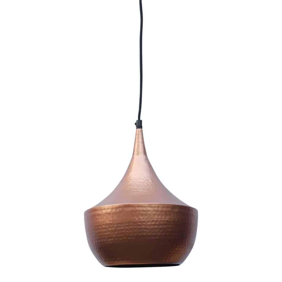 Hippe hanglamp Doll koper met koperen binnenzijde voor een mooi sfeervol licht | www.homeseeds.nl