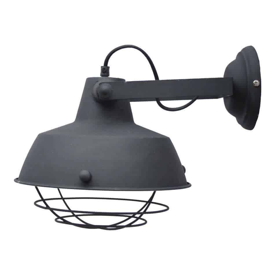 Industriele wandlamp prison zwart van urban interiors | industriële verlichting lampen | www.homeseeds.nl