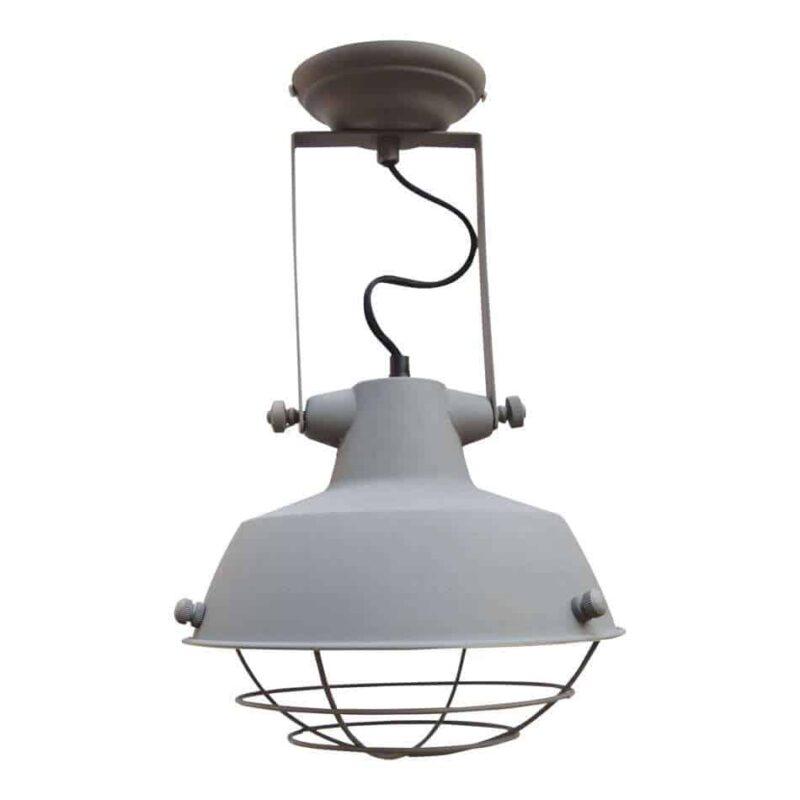 Industriele plafondlamp grijs lamp verlichting urban interiors | www.homeseeds.nl