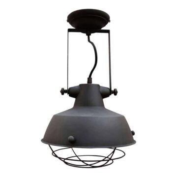 Industriele plafondlamp prison zwart van urban interiors | www.homeseeds.nl