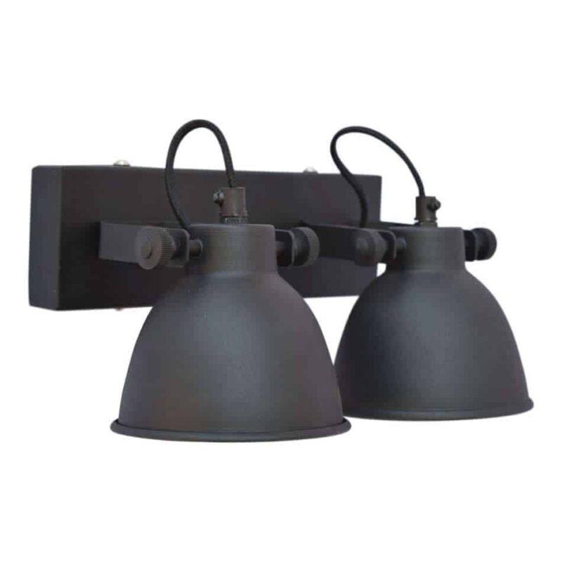 Plafondlamp industrial double urban interiors for Stoere wandlamp