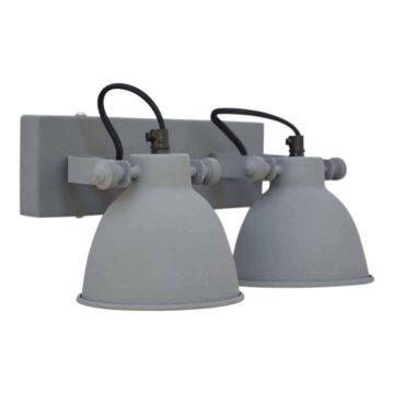Wandlamp industrial double van Urban Interiors is een Stoere spots die zowel aan de muur als aan het plafond gehangen kunnen worden | www.homeseeds.nl