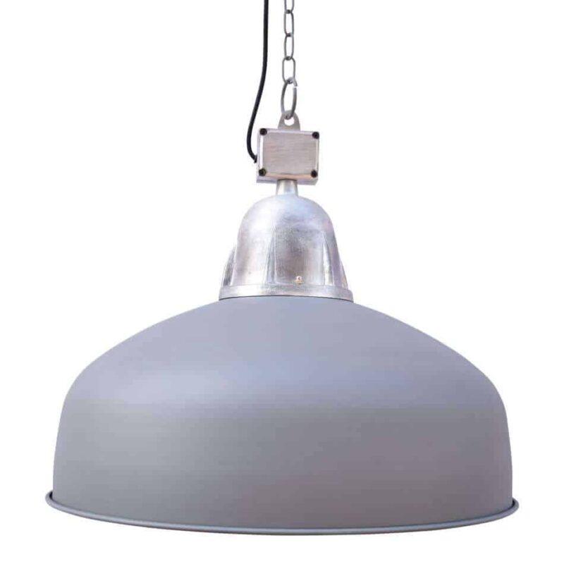 Hanglamp Industrial Grijs | Stoere fabriekshanglamp verkrijgbaar in zwart en grijs | www.homeseeds.nl
