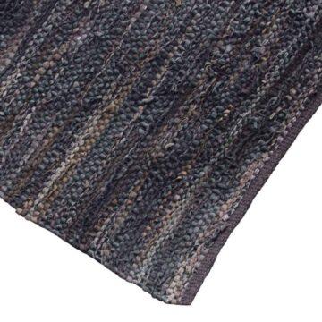 Stoer geknoopt vloerkleed van gerecycled bruin leer | Urban Interiors | www.homeseeds.nl