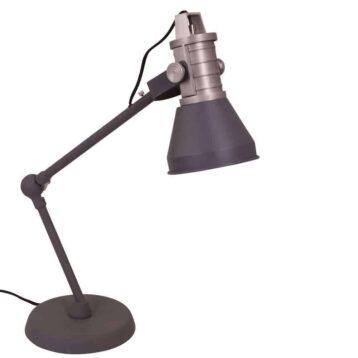 Erg leuke en praktische bureaulamp van Anne Lighting   verkrijgbaar in blauw en antraciet   www.homeseeds.nl