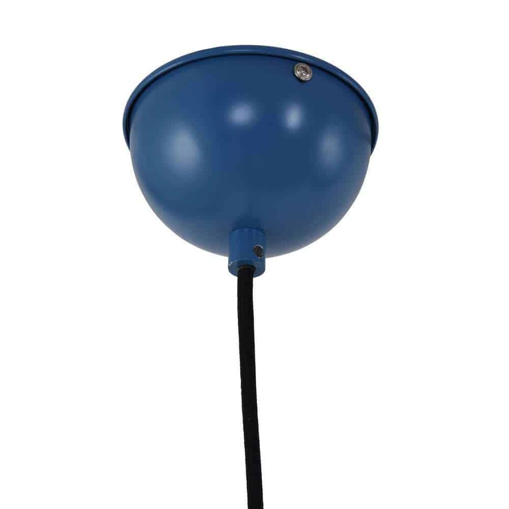 Wire-O blauw plafondkap en strijkijzersnoer. Stoer in elk scandinavisch of industrieel interieur
