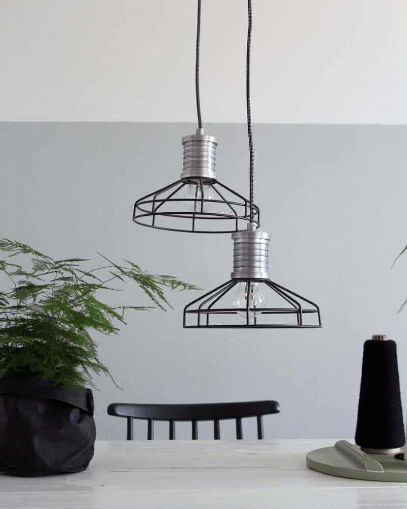Draadlamp Wire-O van Anne Lighting. Hippe hanglamp voor in jouw industriele interieur