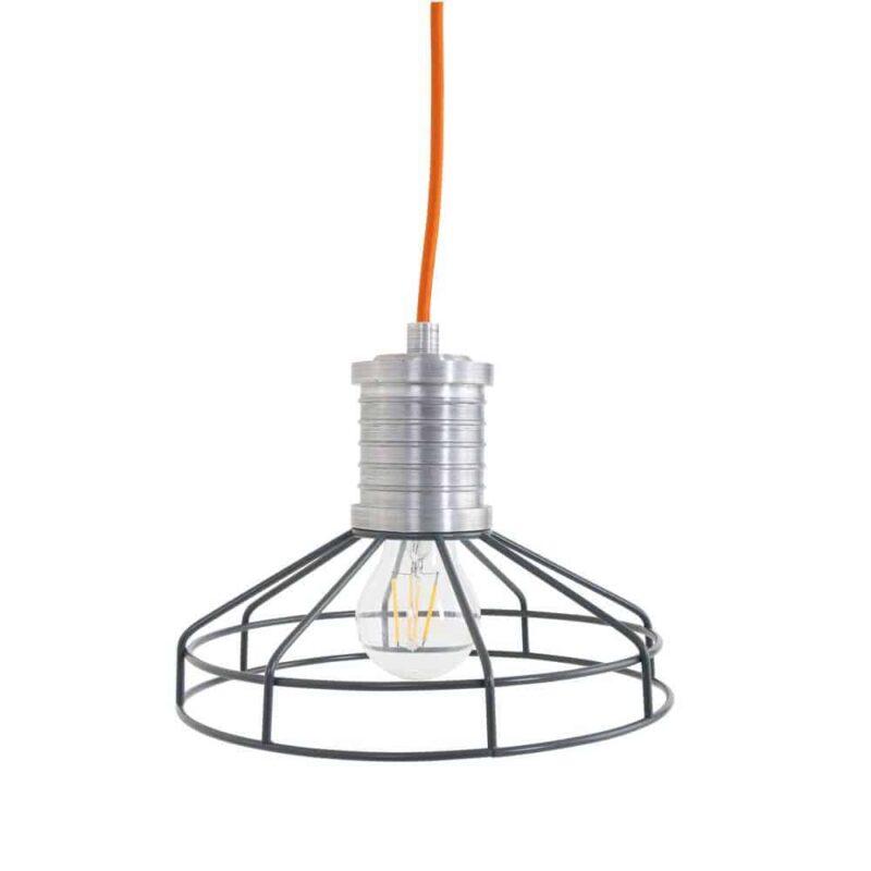 Wire-O grijs Stoere hanglamp draadlamp van Anne Lighting | Scandinavisch | Industrieel |