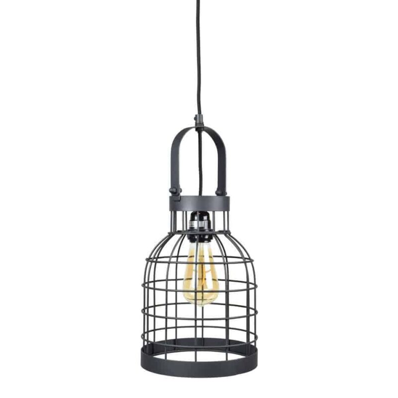 Industriele draadlamp Bucket small van Urban Interiors Zwart