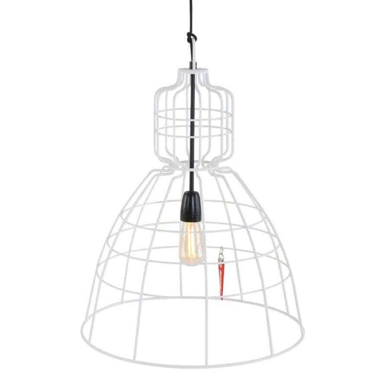 Hanglamp Anne Mark iii wit | Super gave draadlamp die perfect in je scandinavische, moderne of industriele interieur blend, Maak jij je huis mooier met deze lamp?