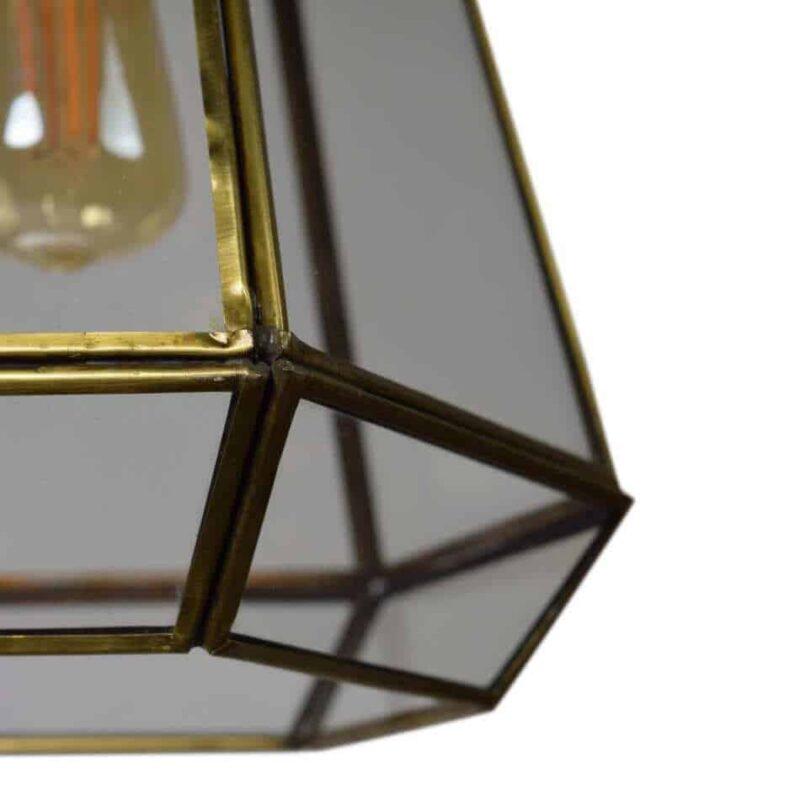 hanglamp GEO2 van urban interiors | Vintage, Botanic, stoer, brass antique | www.homeseeds.nl