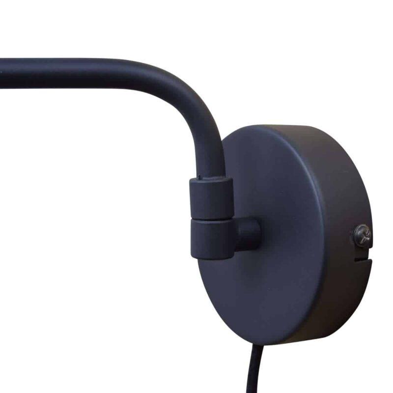 Wandlamp Swing mat zwart urban interiors vintage black industrieel botanic stoer