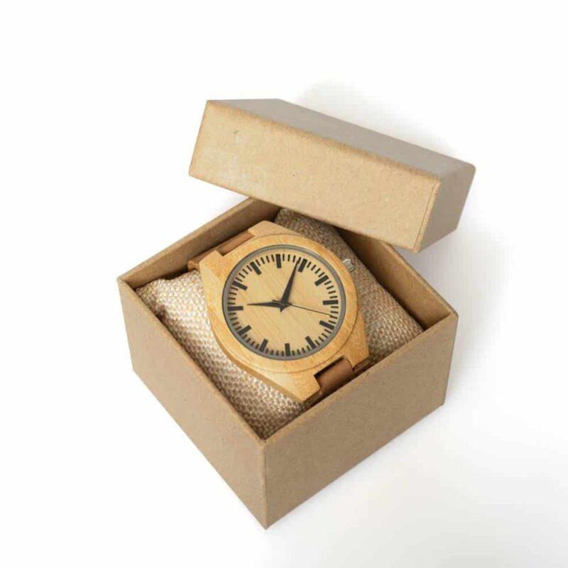 Houten horloge pure bamboe | eco virendelijk horloge voor heren | homeseeds.nl