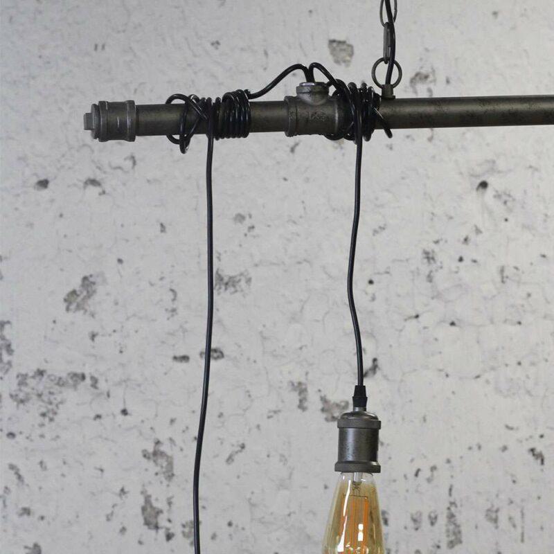 Hanglamp steigerbuis snoeren peertjes industrieel