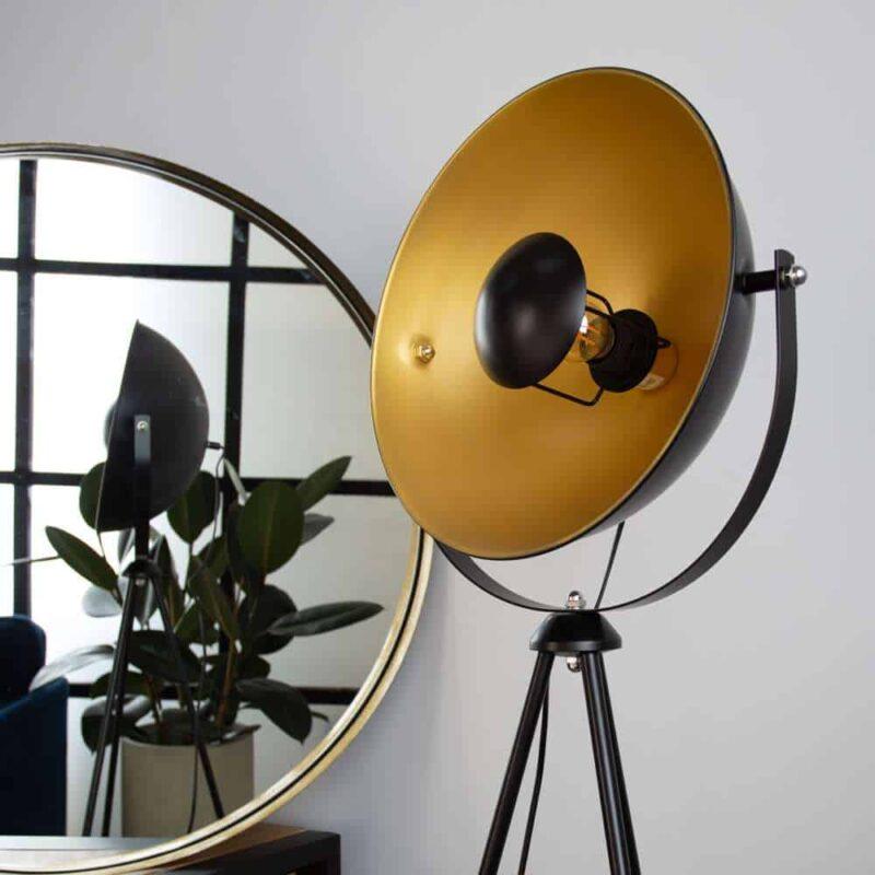 Vloerlamp mobi zwart goud hippe vloerlamp