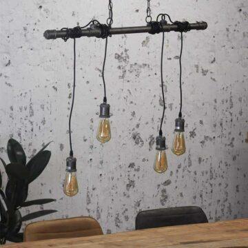 Industriële buizenlamp portland snoeren hanglamp