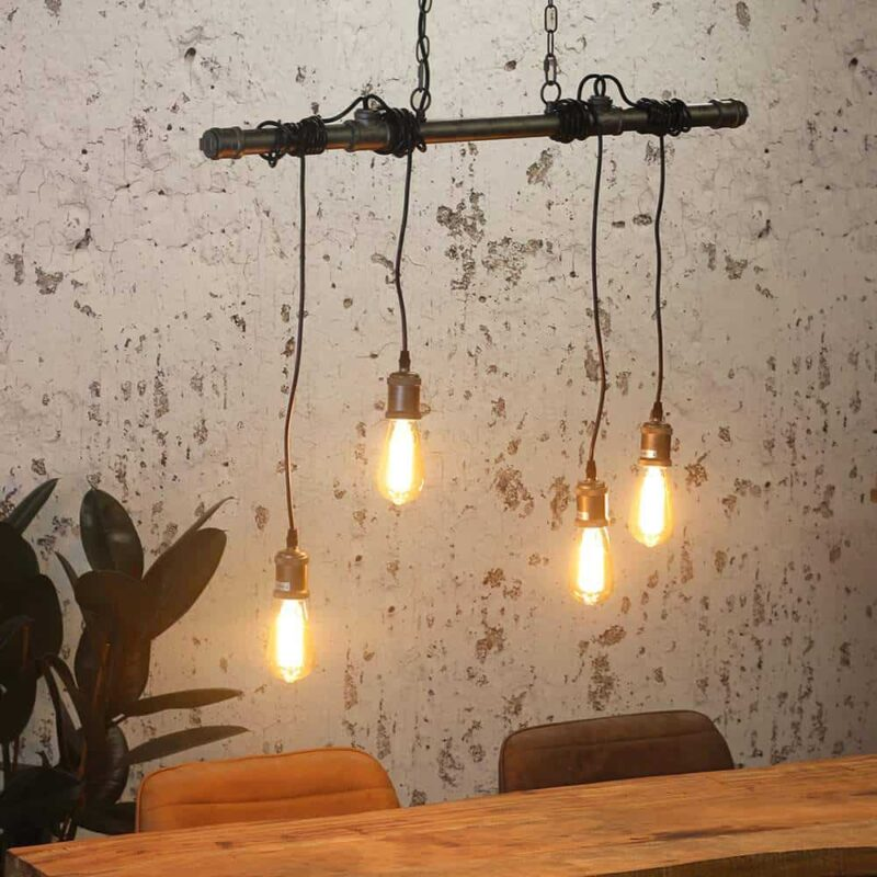 Industriële hanglamp Portland buizenlamp met snoeren