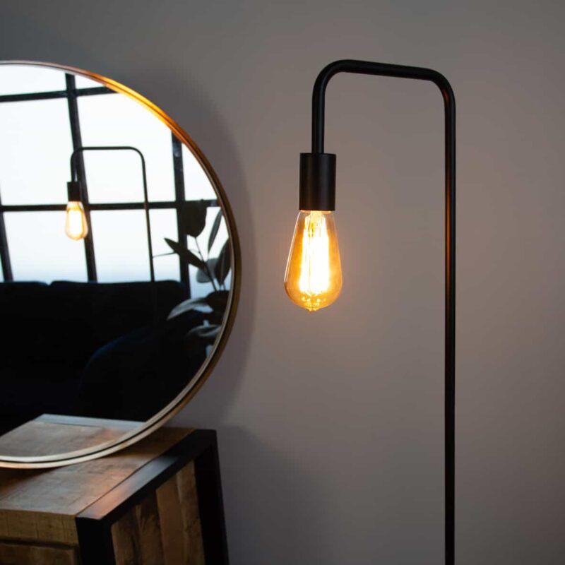 Hippe zwarte vloerlamp charles van metaal. Scandinavisch design