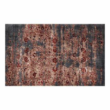 Rood vloerkleed donovan wijnrood tapijt verweerde look